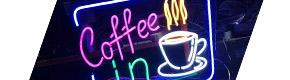 Неоновые вывески для кафе