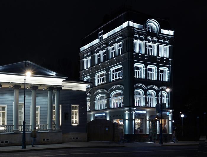 Основные типы подсветки зданий