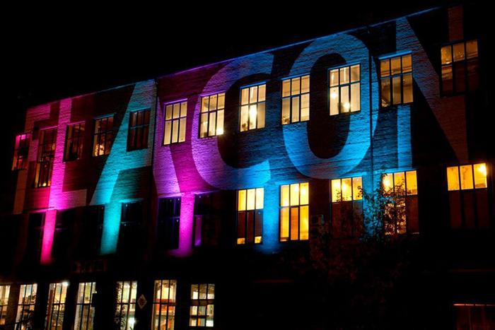 подсветка здания для рекламы