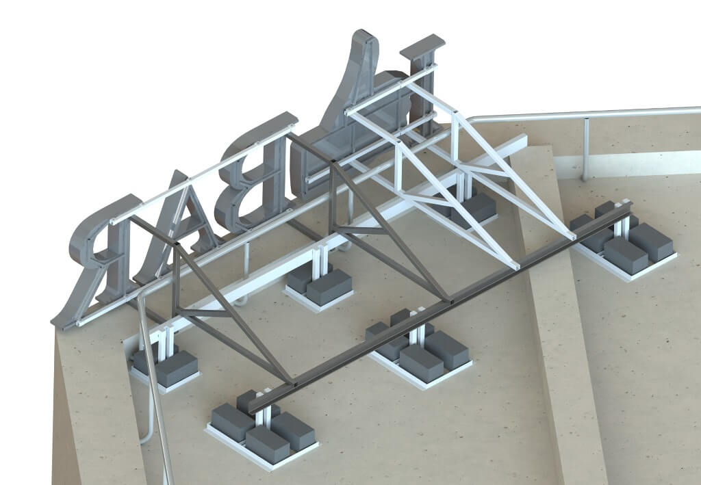 Основа рекламного модуля - крышной установки