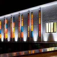 Оформление подсветки здания