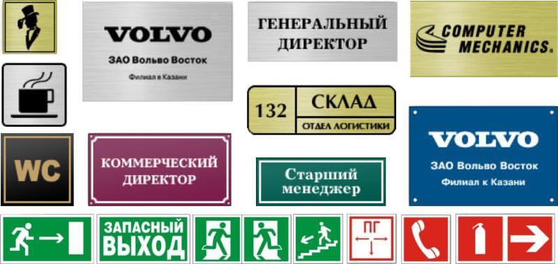 Какие бывают информационные таблички