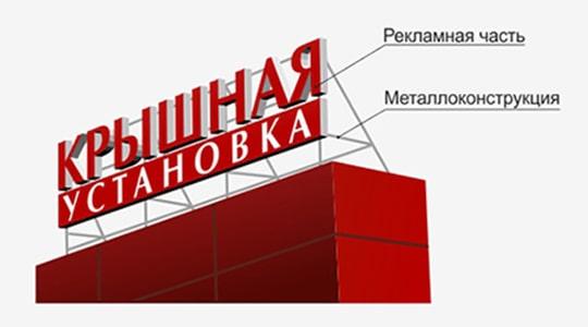 крышные установки рекламных конструкций
