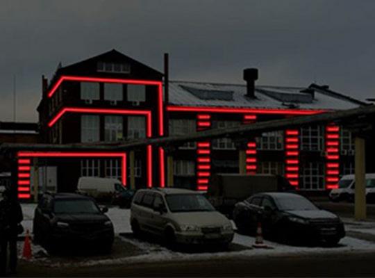 Вариант подсветки здания